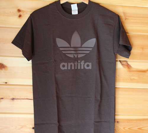ANTIFA 3D BROWN ON BROWN ONE COLOUR SCREEN PRINT
