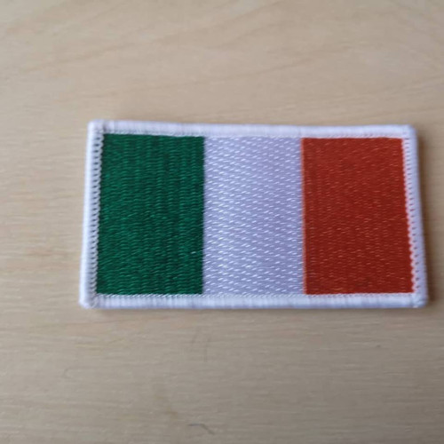 Irish tricolour iron on patch