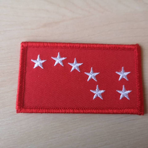 Starry Plough red iron on patch