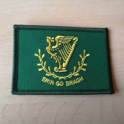 Erin Go Bragh iron on embroidered patch