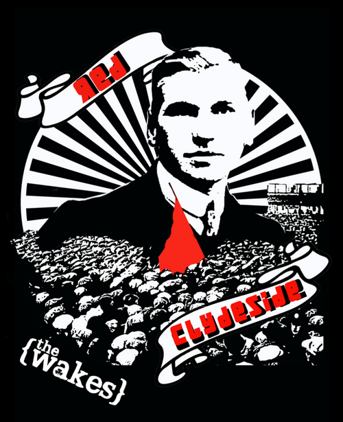 The Wakes Red Clydside black t-shirt