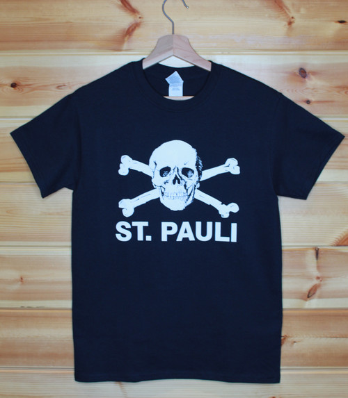 St. Pauli one colour hand screen printed black t-shirt