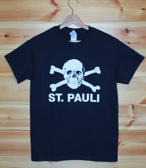 St. Pauli one colour hand screen printed black t-shirt