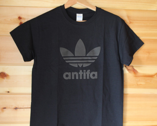 ANTIFA BLACK ON BLACK 3D t-shirt