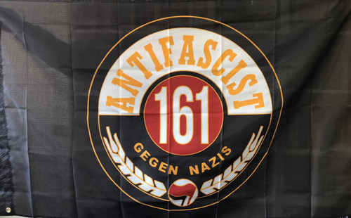 161 ANTIFASCIST GEGEN NAZIS 5 FEET X 3 FEET FLAG