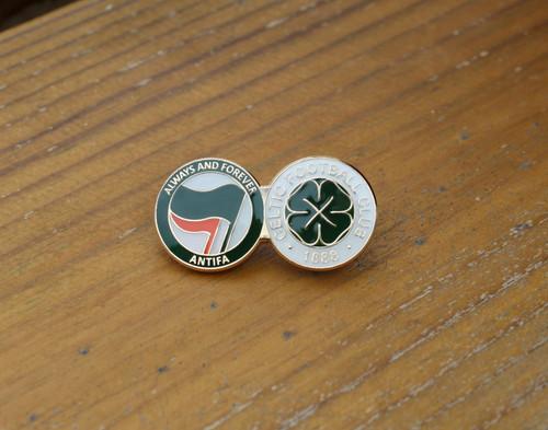 Celtic Always and forever ANTIFA enamel badge