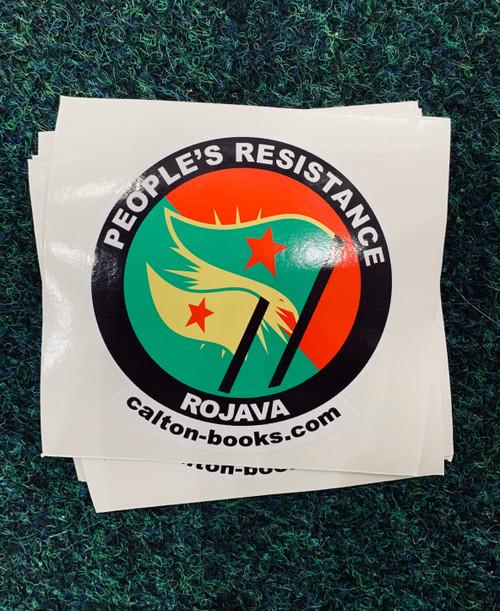 PEOPLE'S RESISTANCE ROJAVA 20 vinyl stickers