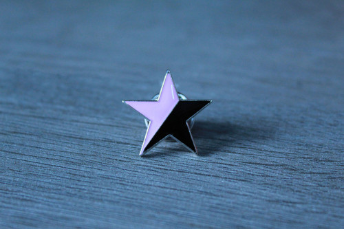 Black Pink star enamel badge
