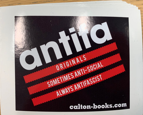 Sometimes Antisocial Always Antifascist three stripes vinyl stickers