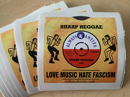 Love Music Hate Fascism Trojan vinyl stickers