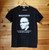 """Malcolm X  """"If we don't stand for something we may fall for anything"""". One colour hand screen printed black t-shirt."""