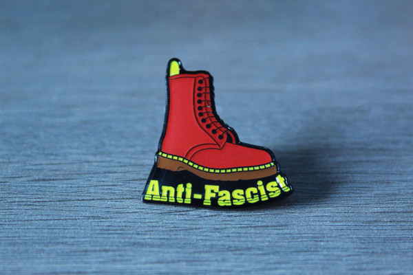 Doc Marten Antifascist enamel  badge/pin