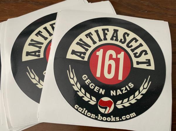 ANTIFASCIST 161 GEGEN NAZIS VINYL STICKERS