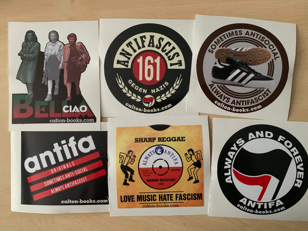 Multi pack of ANTIFA 20 vinyl stickers