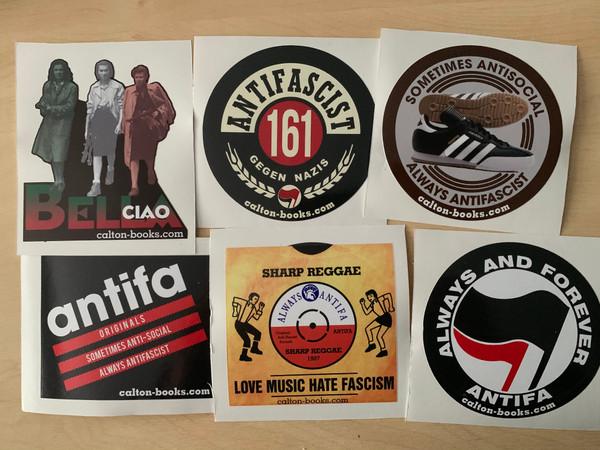 Multi pack of ANTIFA 20 vinyl stickers