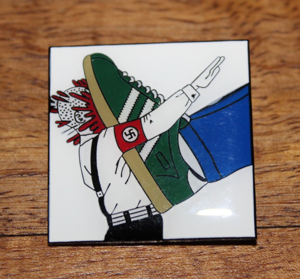 Antifascist casual soft enamel badge with brooch fixing
