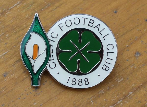Easter Lily/Celtic enamel badge
