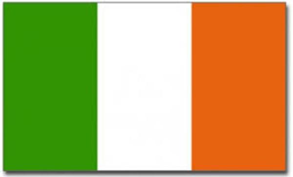 Irish tricolour flag