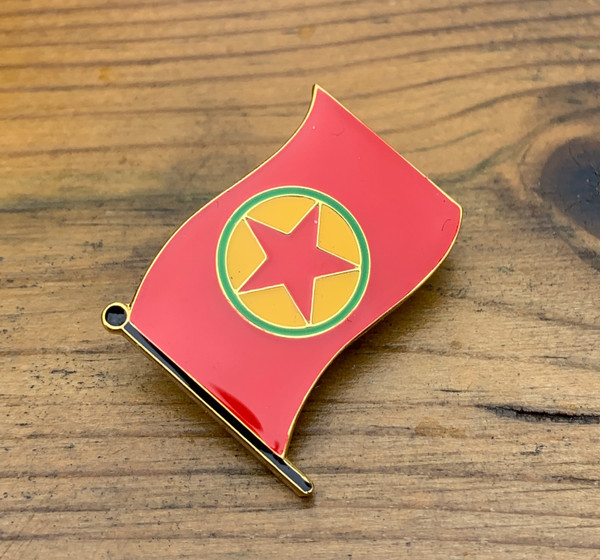Kurdistan Workers' Party enamel badge