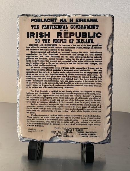 Proclamation of the Irish Republic  slate