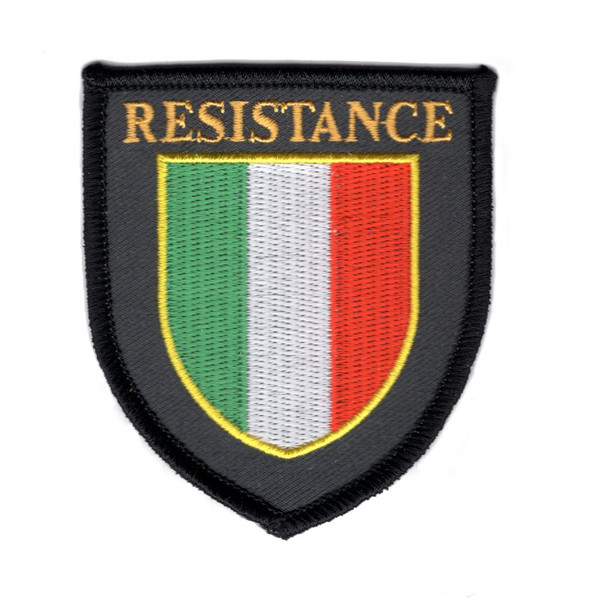 Resistance iron on embroidered patch