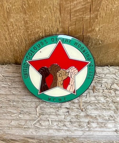 United Colours of the Working Class enamel badge