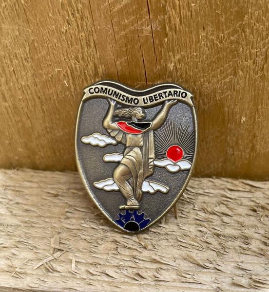 Comunismo Libertario FAI 3D badge