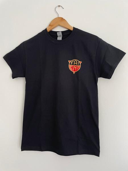 FAI CNT black t-shirt with left breast print