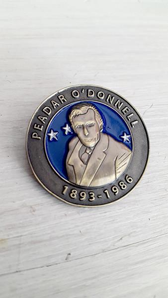 Peadar O'Donnell Irish Republican Socialist 3D badge
