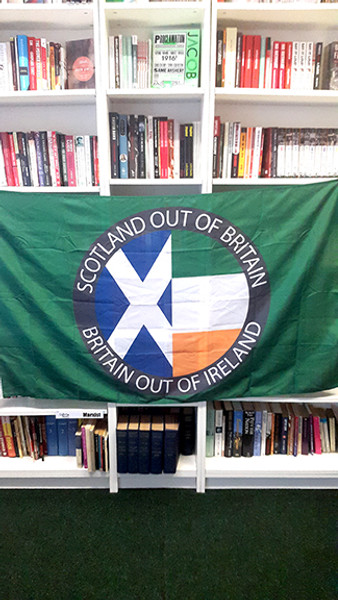 Scotland Out of Britain Britain Out of Ireland flag