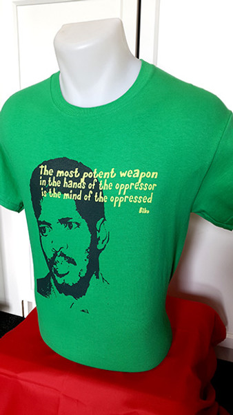 Image of South African Black Consciousness leader Steve Biko who was murdered by the apartheid regime.
