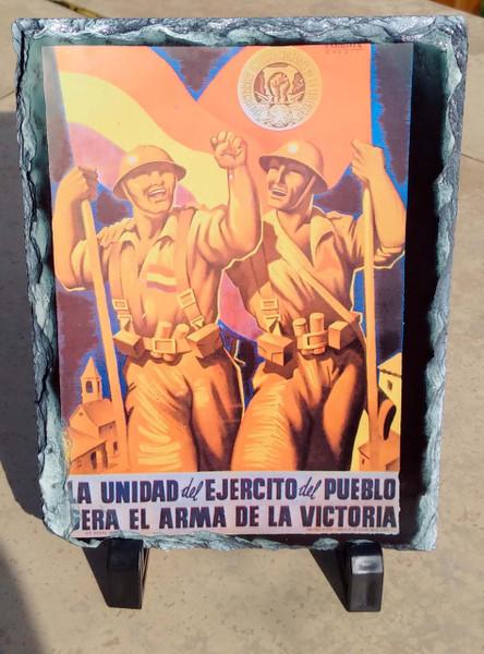 International Brigade Volunteers slate