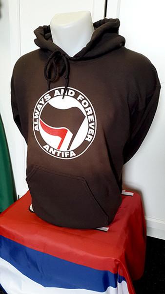 ANTIFA - Always and Forever - Anti-Fascist Hoody (brown)
