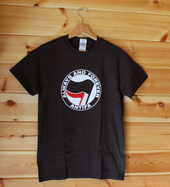 ANTIFA - Always and Forever Anti-Fascist T-shirt (brown)