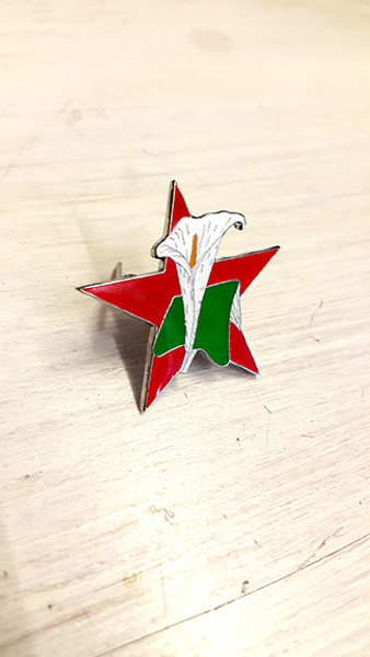 Easter Lily (Red Star) Enamel Badge