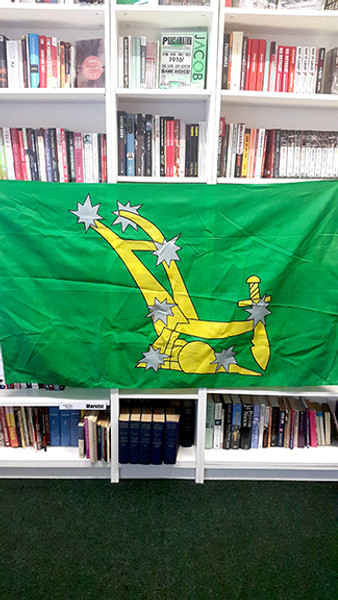 Giant original Starry Plough (green) flag