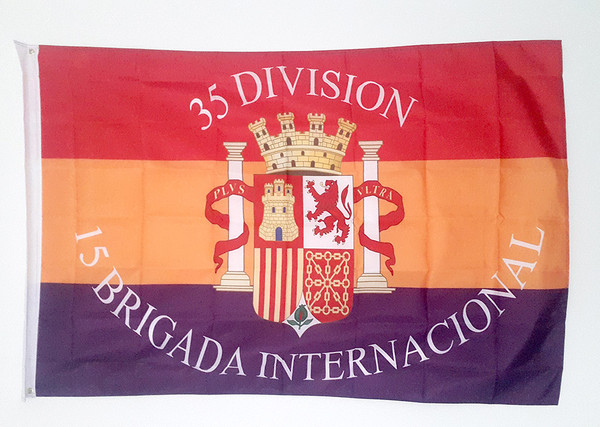 35 Division 15 Brigada Internacional flag