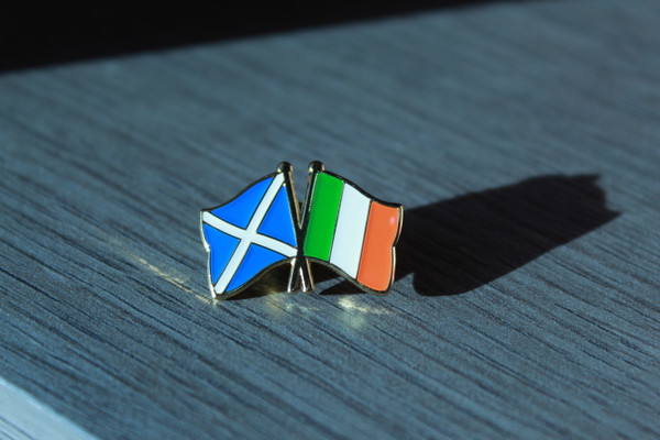 Scottish Solidarity with the Irish Republic Badge