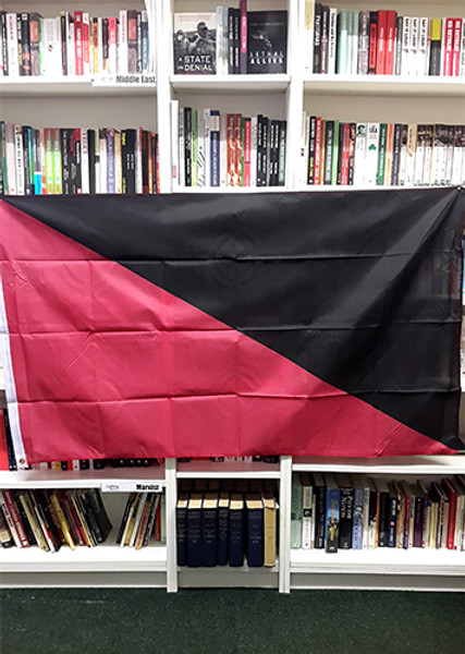 Anarcho-Syndicalist / Anarcho-Communist (Ancom) Flag (red and black) - 5 x 3ft