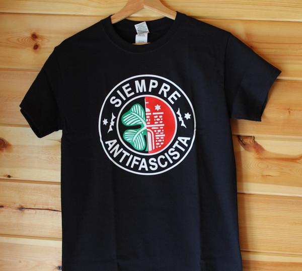 SIEMPRE ANTIFASCISTS Celtic St. Pauli black t shirt