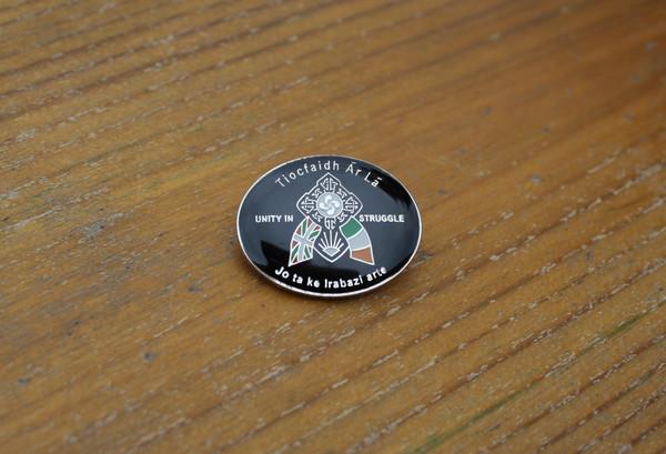 Irish Basque unity in struggle enamel badge