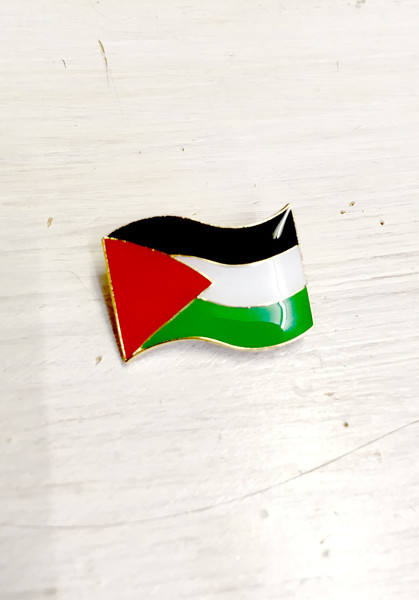 Palestinian Flag enamel badge