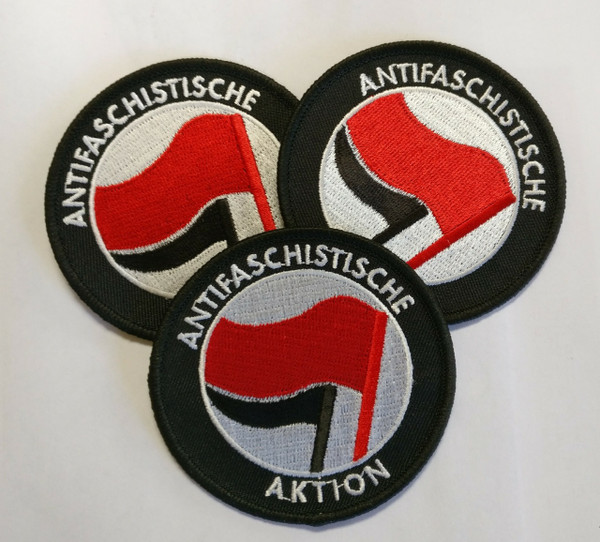 ANTIFASCHISTISCHE AKTION 100% embroidered sew or iron patch