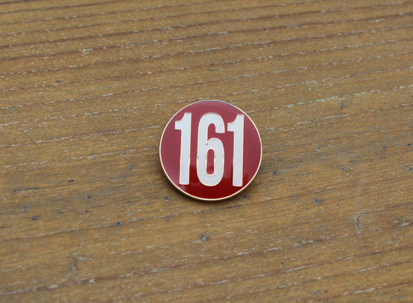 161 Red ANTIFA enamel badge