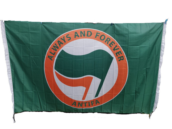 Giant 8 feet x 5 feet ALWAYS AND FOREVER ANTIFA flags