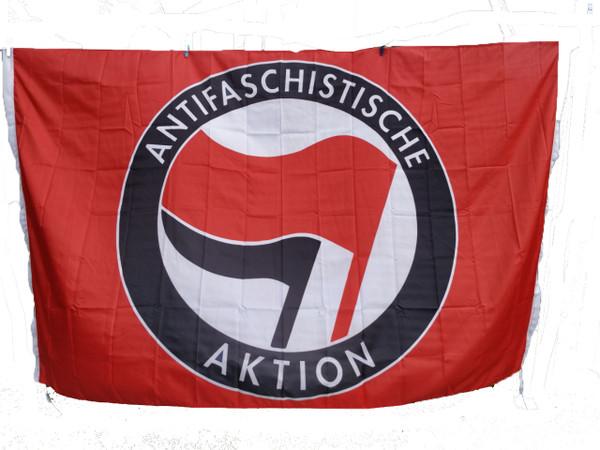 Giant 8 feet x 5 feet RED ANTIFA flag