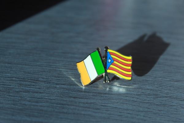 Irish Solidarity with Catalonia Badge