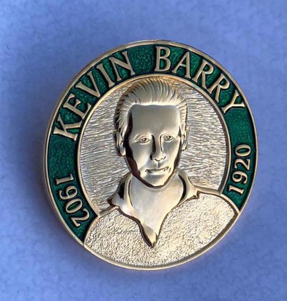 KEVIN BARRY 3D enamel badge