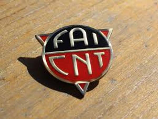 FAI CNT reproduction enamel badge