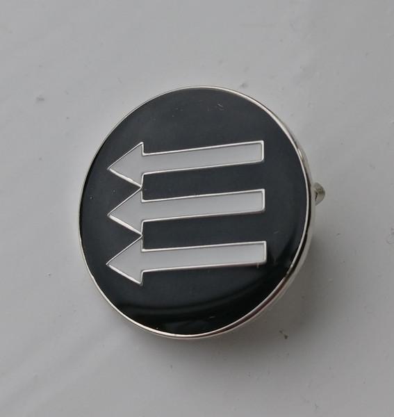 AntiFascist circle enamel badge.
